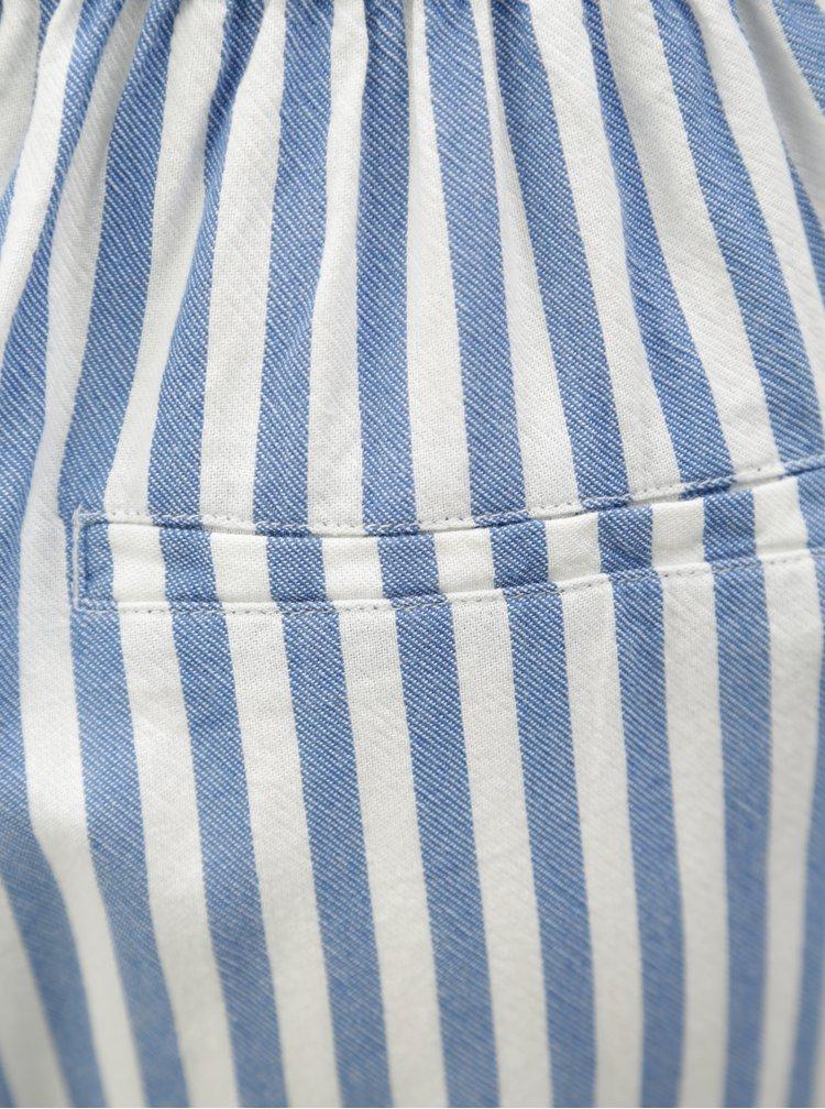 Bílo-modré pruhované culottes Moss Copenhagen