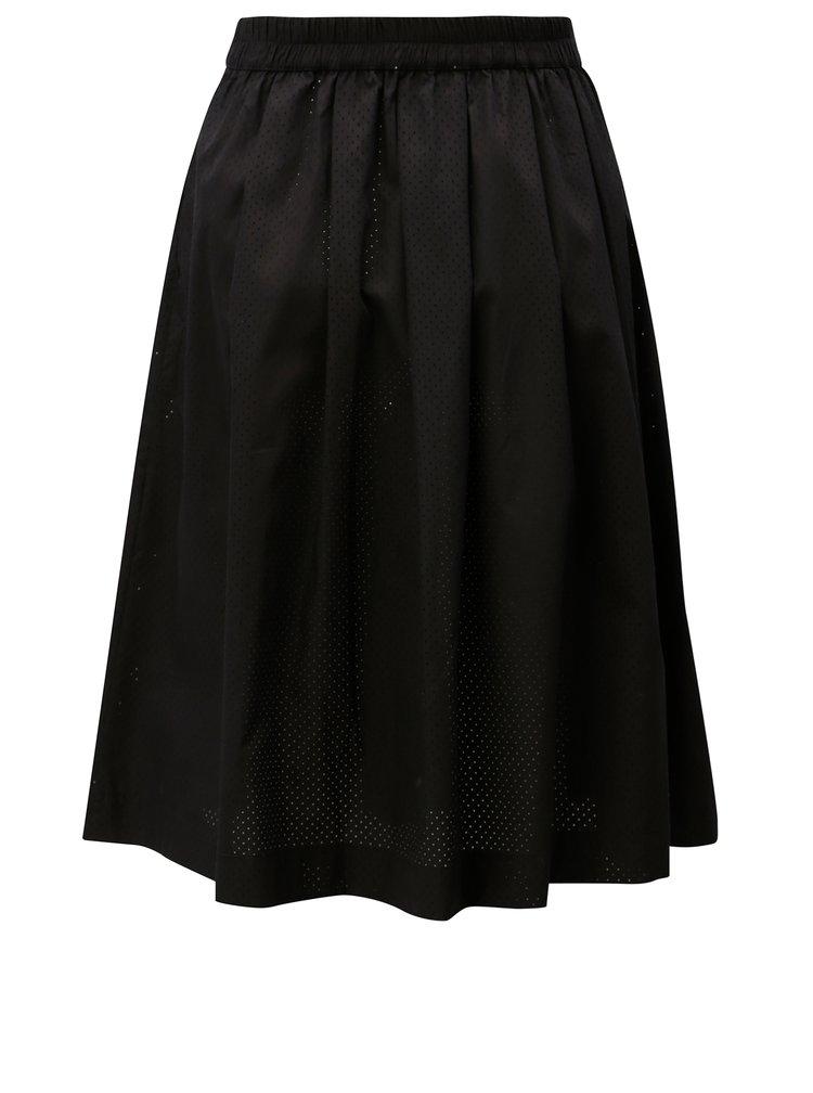 Černá sukně s dírkovaným vzorem Moss Copenhagen