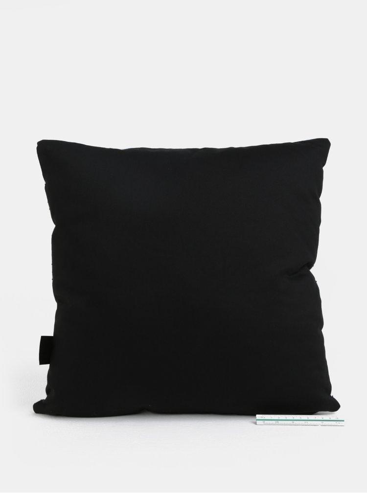 Krémovo-černý polštář s potiskem pandy Butter Kings