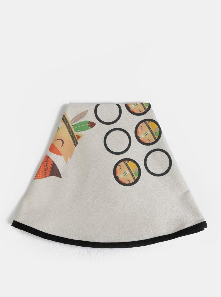 Béžová deka na hraní s potiskem  Butter Kings