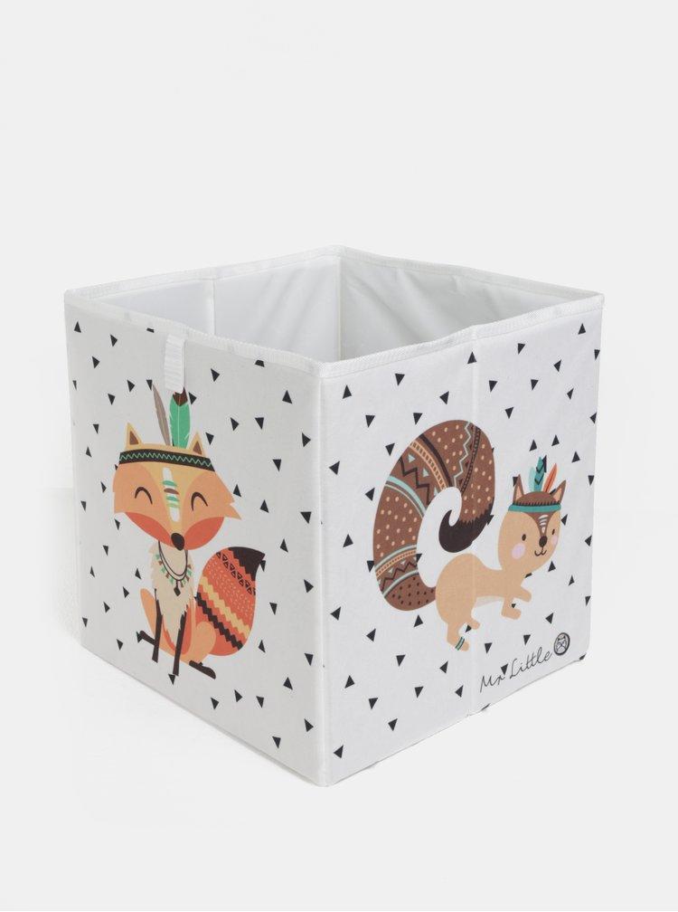 Krémový úložný box s potiskem Butter Kings
