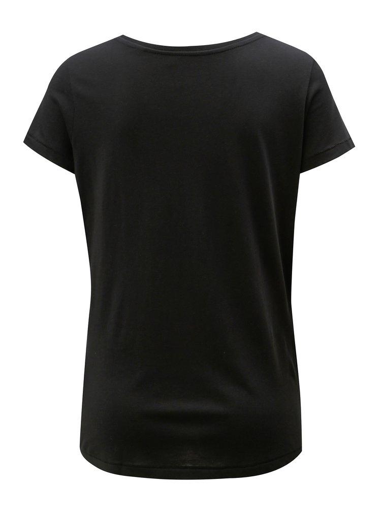 Černé dámské basic tričko Stanley & Stella Loves