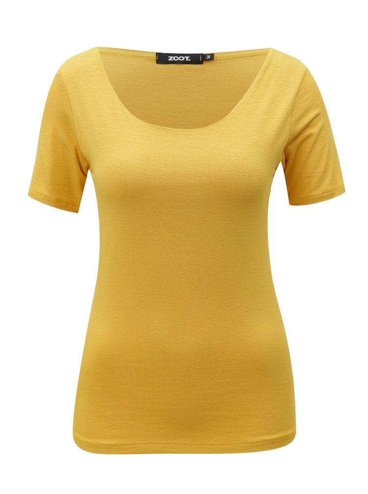 Hořčicové tričko s krátkým rukávem  ZOOT