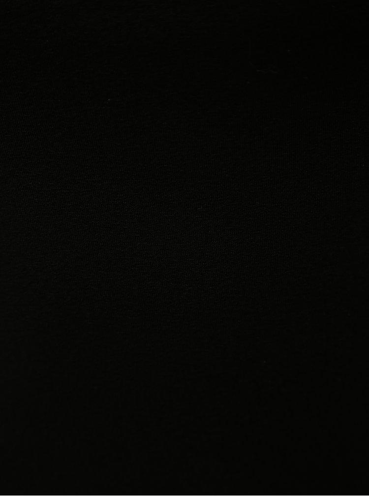 Tricou negru cu maneci scurte ZOOT