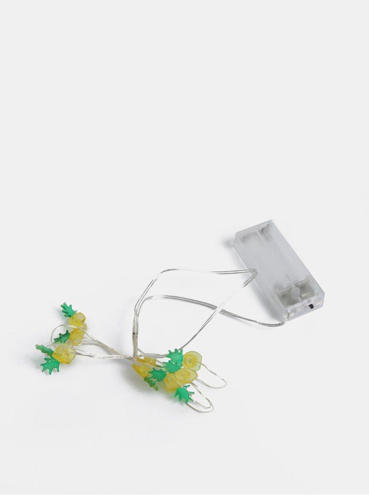 Žlutý LED světelný řetěz ve tvaru ananasů Kaemingk