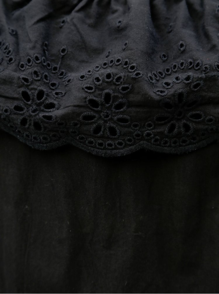 Černý holčičí top s volánem name it Nolly