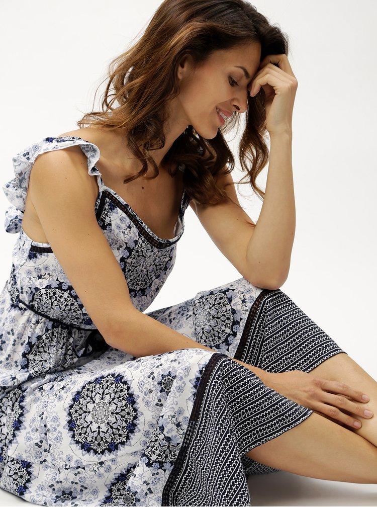 Modro-bílé maxišaty s ornamenty ONLY Summer