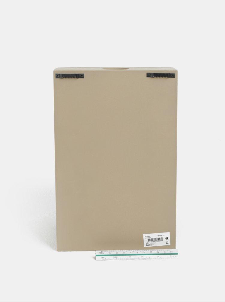 Hnědý závěsný dřevěný box na zátky s otvírákem Kaemingk