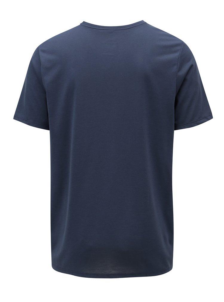Tricou barbatesc albastru inchis functional cu print Nike Athlete
