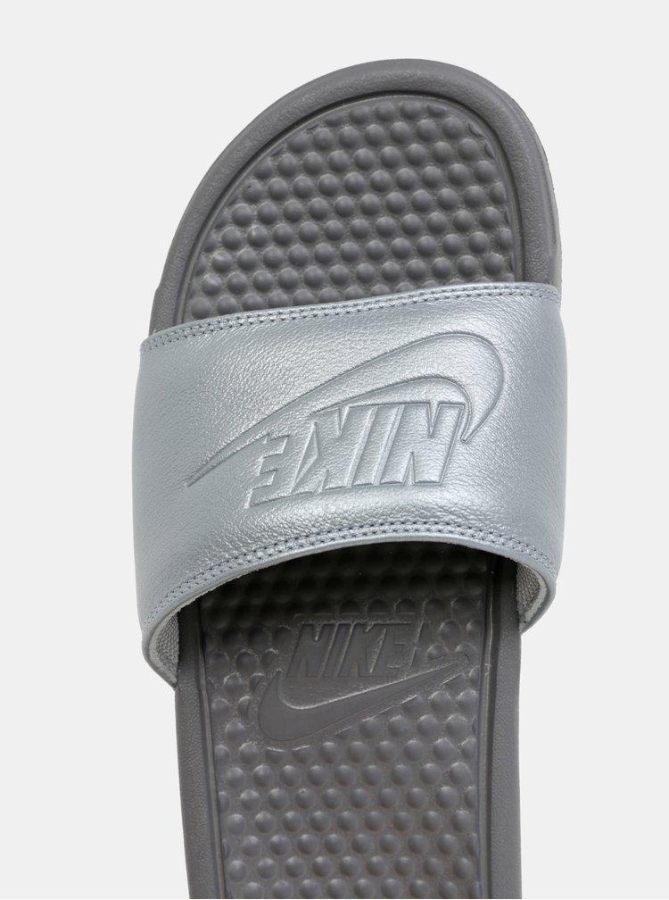 Šedé dámské pantofle Nike Benassi