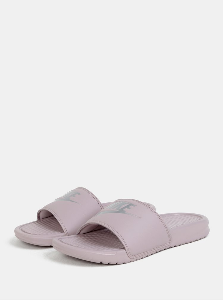 Papuci de dama violet deschis Nike Benassi