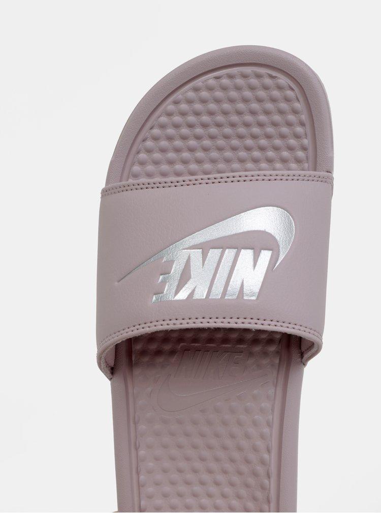 Světle fialové dámské pantofle Nike Benassi