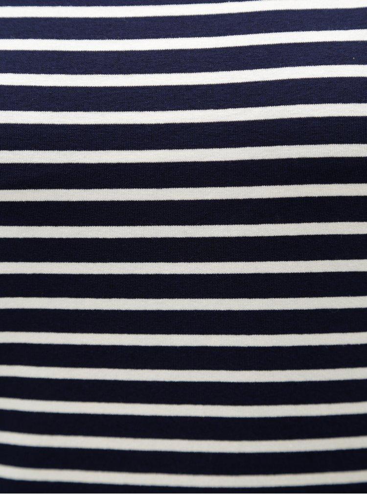 Tricou albastru inchis in dungi cu maneci 3/4 ZOOT