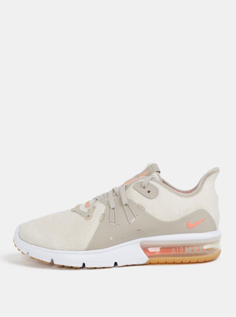 Krémové dámské tenisky Nike Air Max Sequent