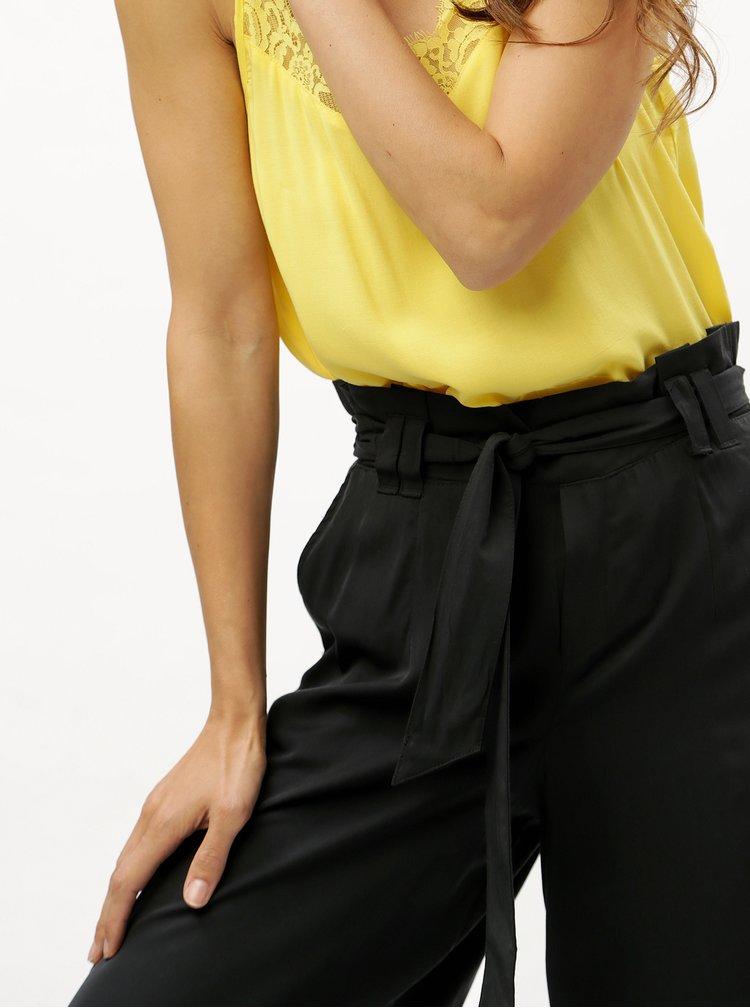 Černé culottes s páskem ONLY Devon