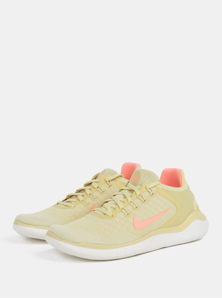 Žluté dámské tenisky Nike Free run