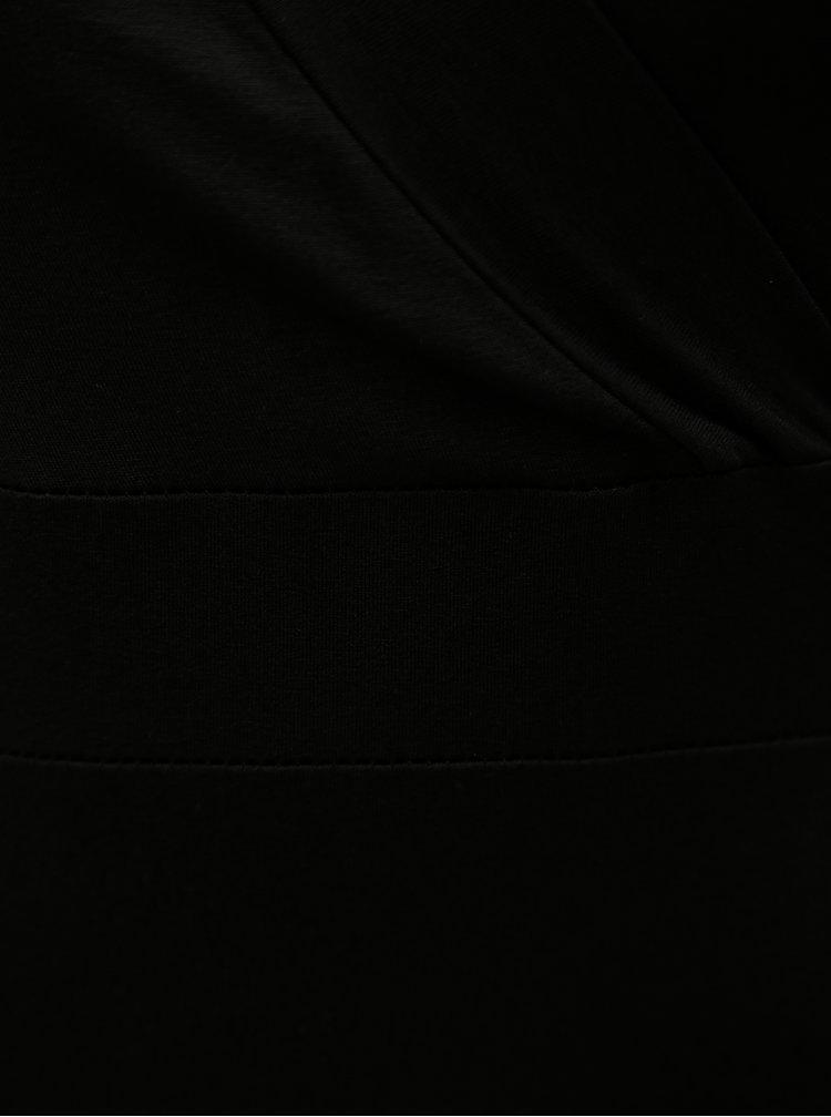 Rochie neagra cu decolteu suprapus ZOOT