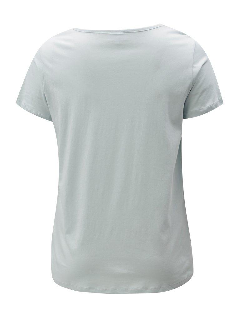 Světle modré tričko s potiskem Zizzi Fierce