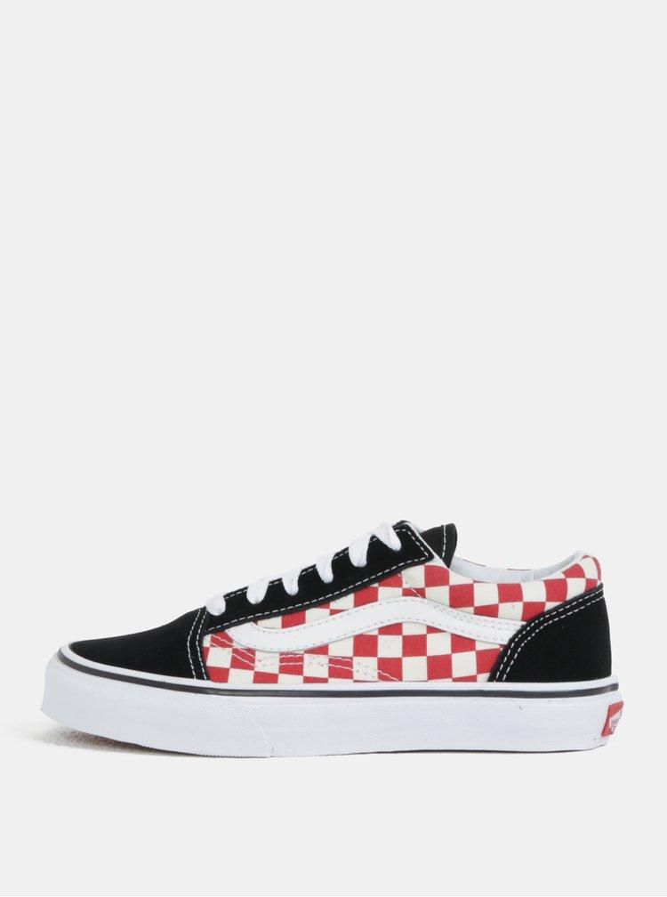 Červeno-černé dětské boty VANS Old skool