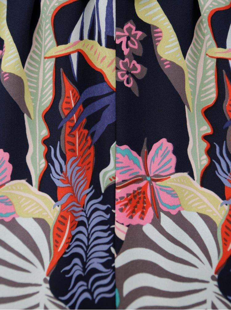 Tmavě modré květované maxišaty na ramínka ONLY Malibu