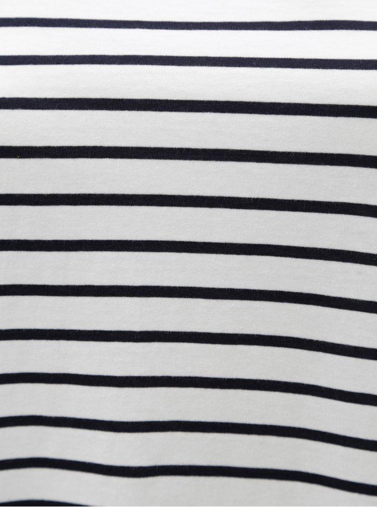 Modro-bílé pruhované tričko Zizzi Mina