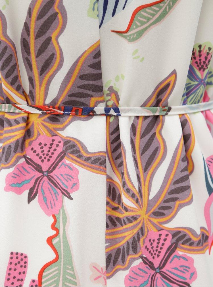 Bílé květované maxišaty na ramínka ONLY Malibu
