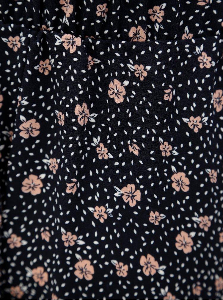 Tmavě modrá květovaná sukně ONLY Rikke
