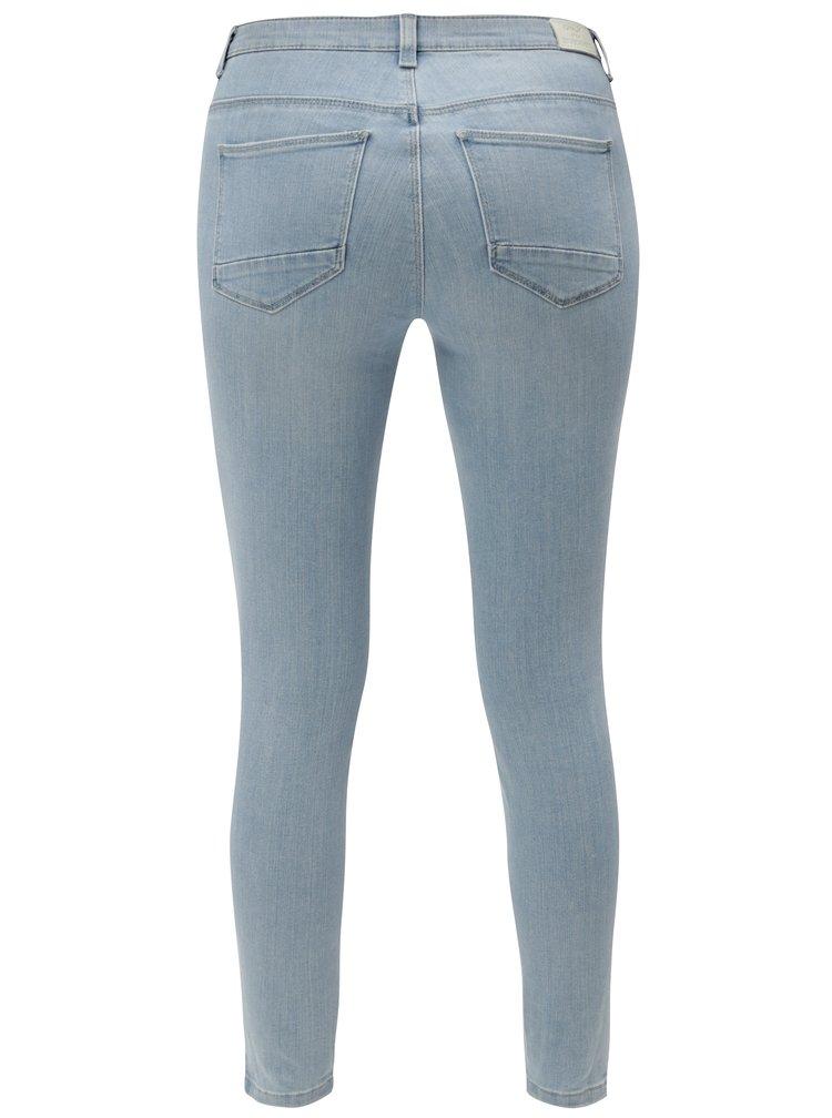 Světle modré skinny džíny s vyšisovaným efektem ONLY Kendell