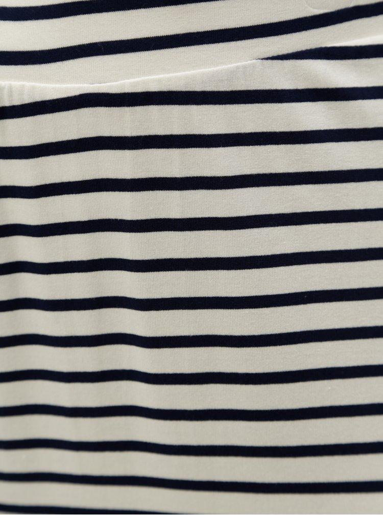 Modro-bílá pruhovaná maxisukně Zizzi Mette