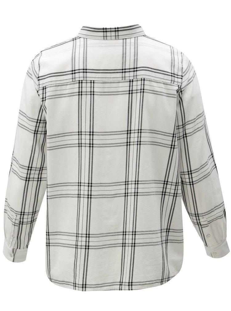 Bílá károvaná košile Zizzi Down
