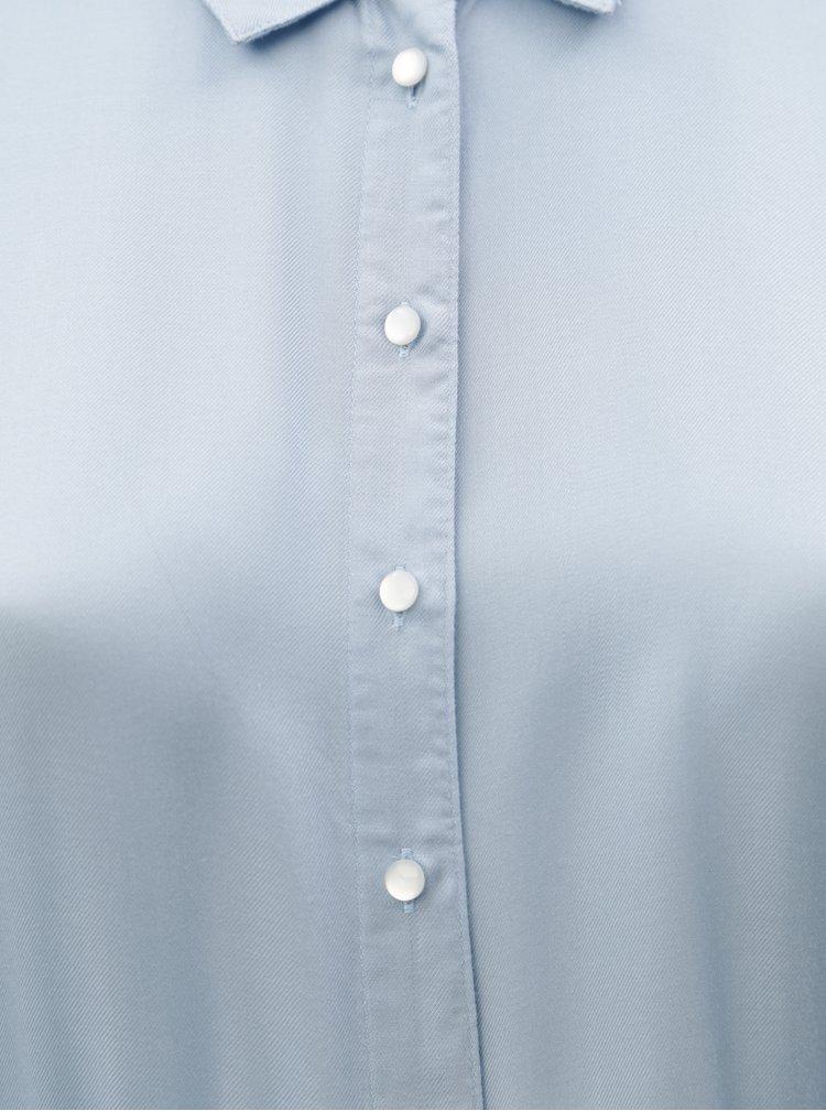 Světle modrá šaty s 3/4 rukávem Zizzi Darling