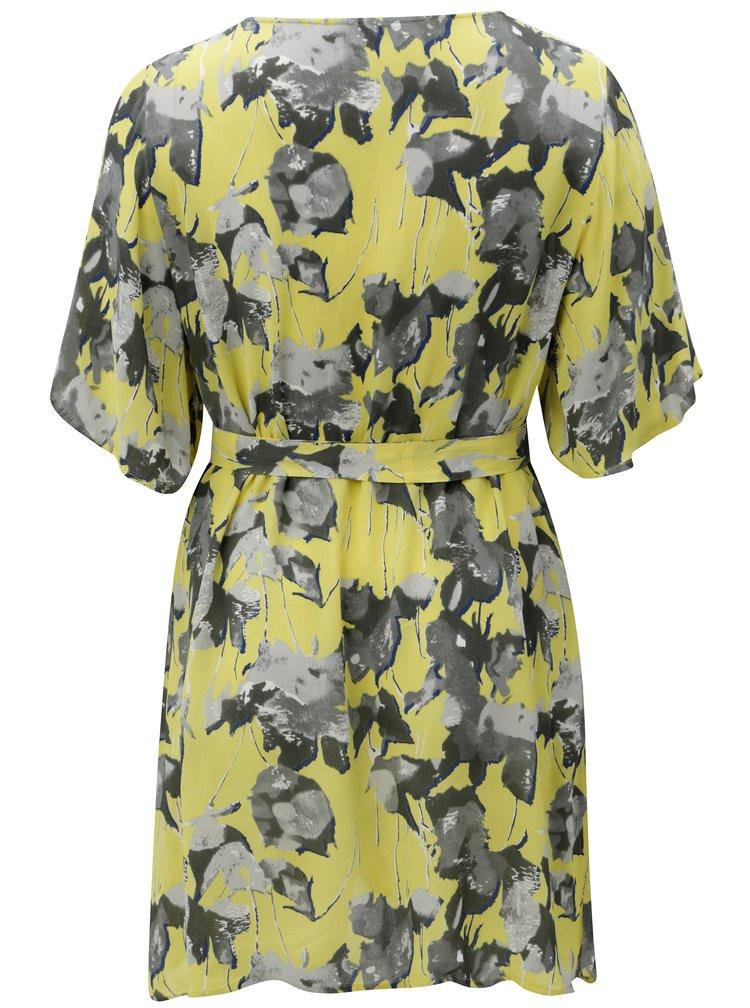 Žluté květované šaty Zizzi Dora