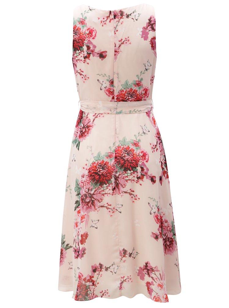 Světle růžové květované šaty Billie & Blossom
