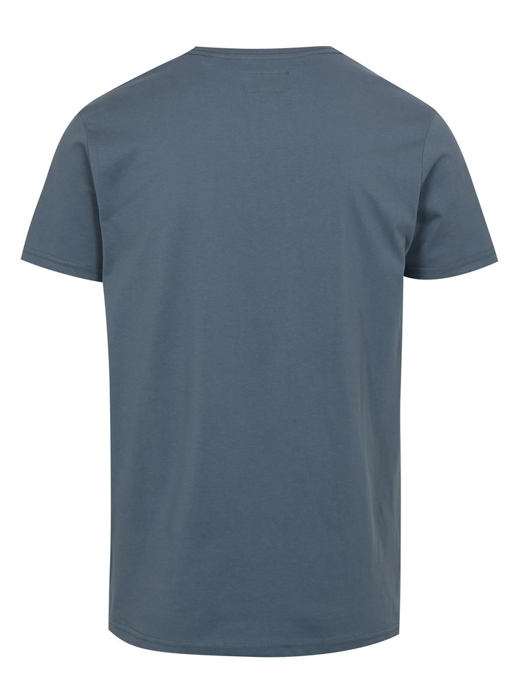 Modré tričko s potiskem Vintage Shine Original