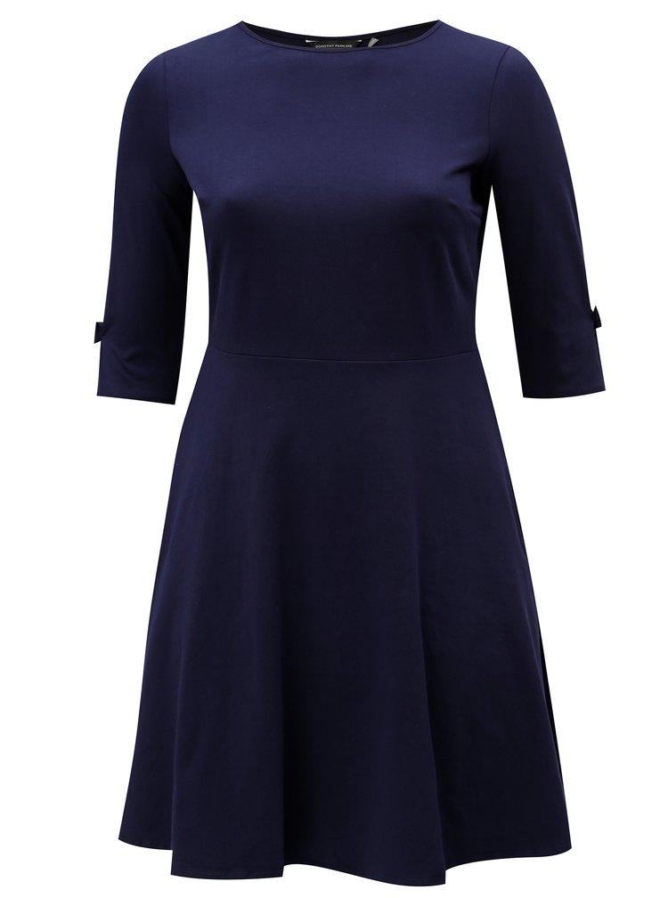 Rochie albastru inchis cu maneci 3/4 Dorothy Perkins Curve