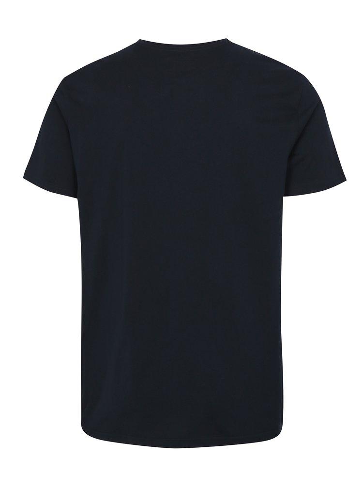 Tmavě modré tričko s potiskem Shine Original