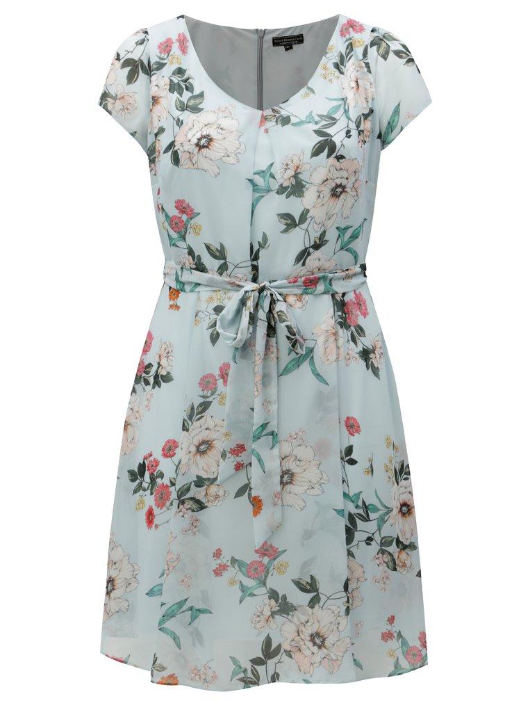 Světle modré květované šaty Billie & Blossom Curve