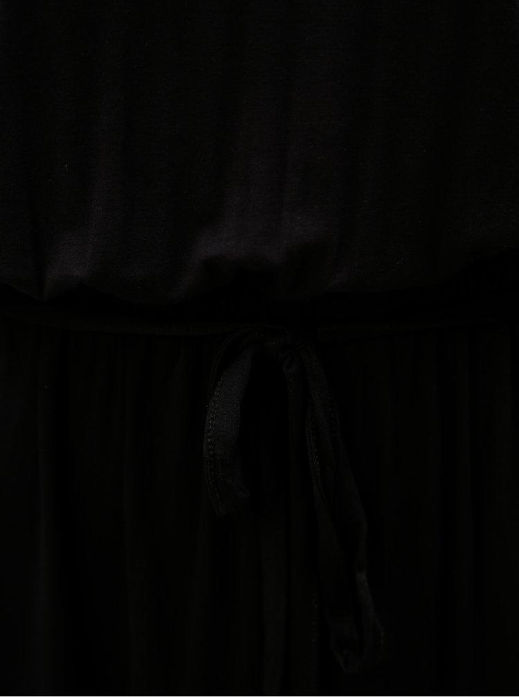 Rochie maxi negru cu cordon si dantela la spate Dorothy Perkins Tall