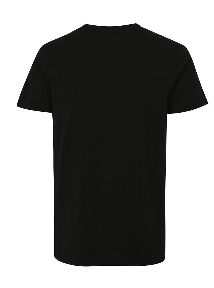 Černé tričko s letním potiskem Shine Original