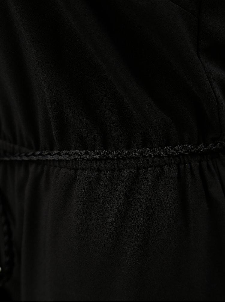 Černý overal s páskem na zavazování Dorothy Perkins