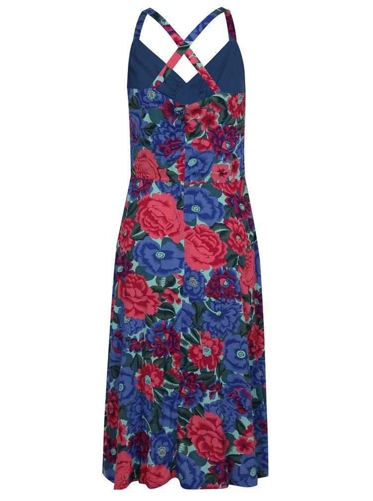 Růžovo-modré květované šaty Fever London Dahlia