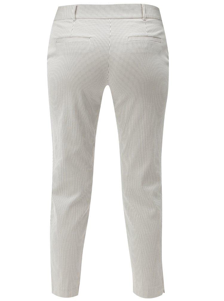 Krémové pruhované zkrácené chino kalhoty Dorothy Perkins