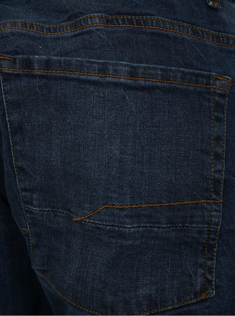 Blugi scurti regular fit albastru inchis Shine Original