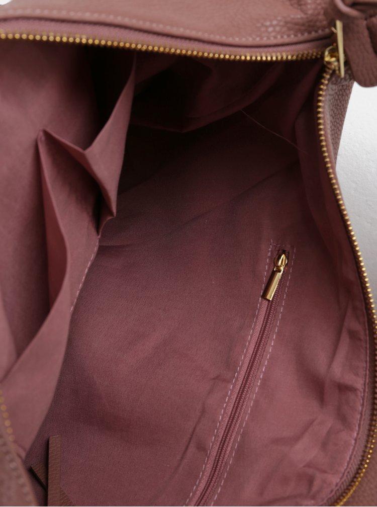 Starorůžová kabelka  s detaily ve zlaté barvěDorothy Perkins