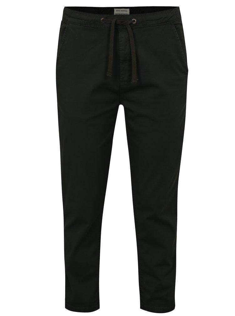 Tmavě šedé chino kalhoty s pružným pasem Shine Original