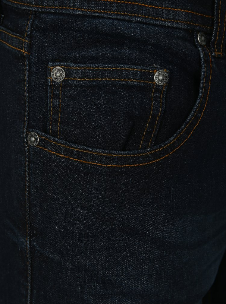 Tmavě modré tapered fit džíny Shine Original