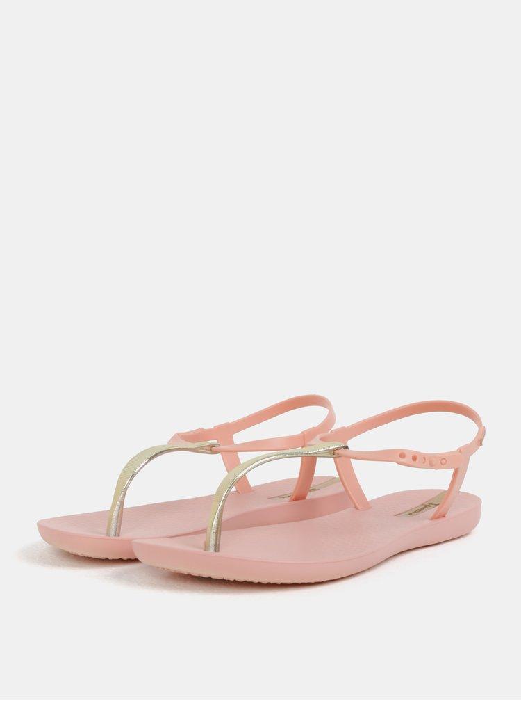 Růžové sandály s detaily ve zlaté barvě Ipanema Charm V
