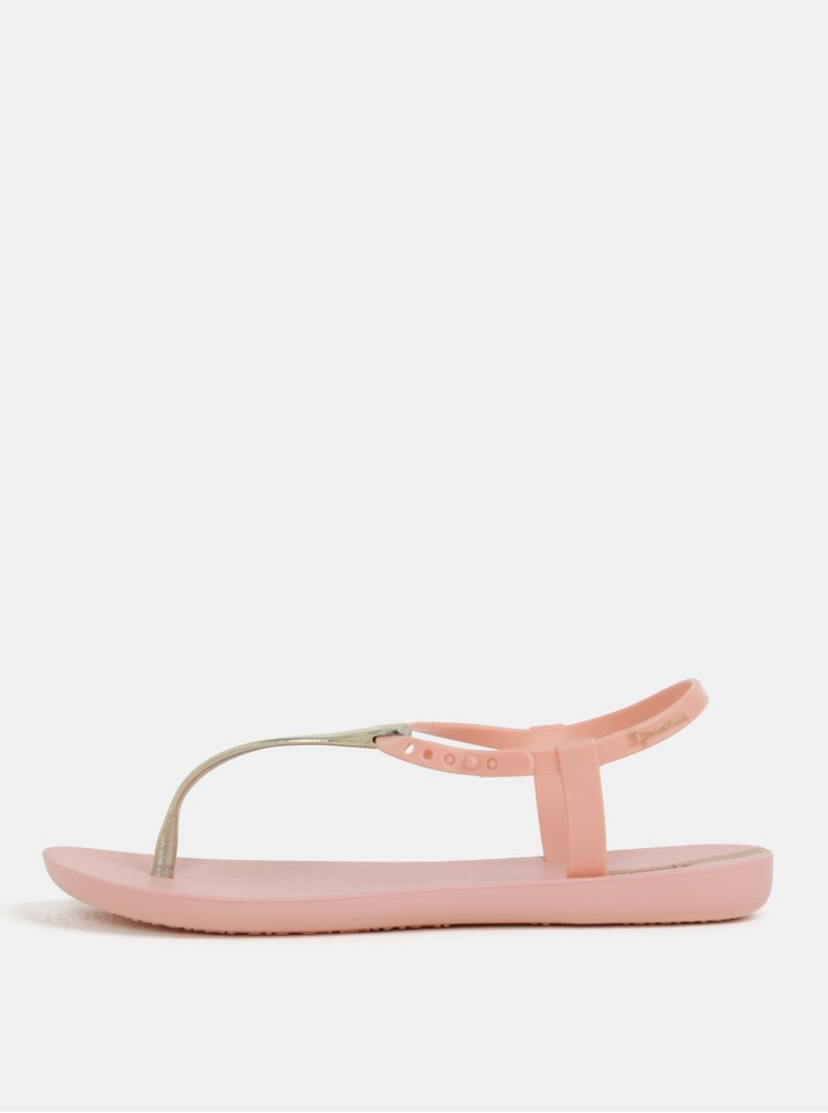 Sandale roz cu detalii aurii Ipanema Charm V