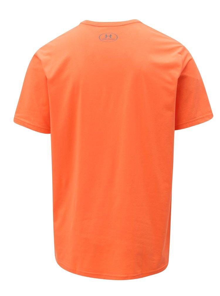 Oranžové pánské funkční tričko s potiskem Under Armour