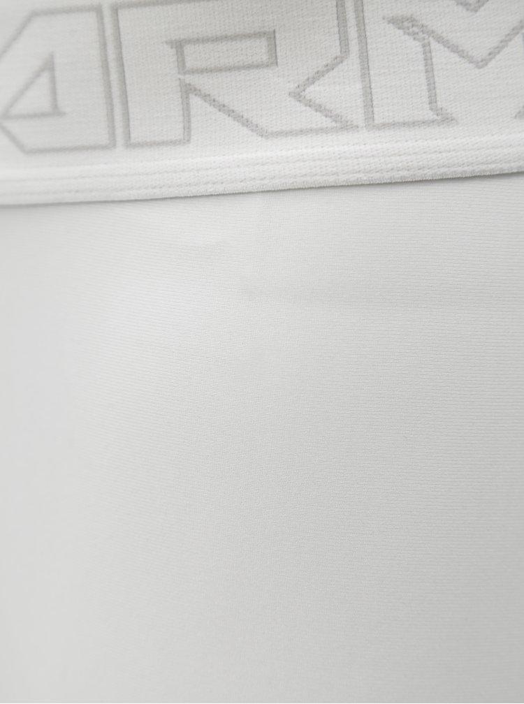 Šedo-bílé pánské kompresní legíny Under Armour